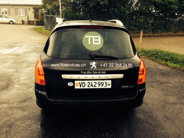 Véhicule entreprise de Nettoyages TBServices